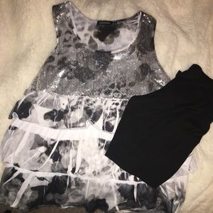 Other - Black & White cheetah outfit